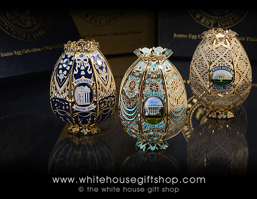 White House Easter Eggs Signed