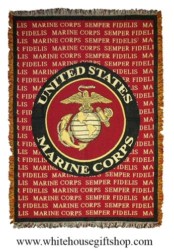Marine Corps Semper Fidelis Throw Blanket See Matching