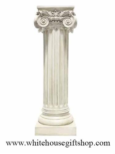 Statue Greek Ionic Column Marble Patina 36 Quot Classic