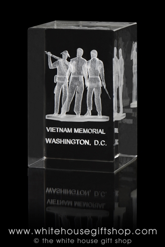 vietnam veterans memorial glass display from the white