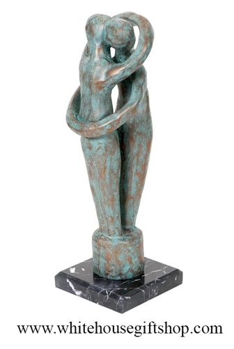 Wedding Rings Embrace Statue 16 Inches Tall 7 8 Pounds