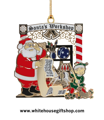 santa u0026 39 s workshop ornament  white house gift shop u0026 39 s classic