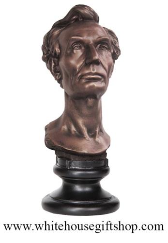 sculpture bust lincoln congress virginia whitehousegiftshop 1860