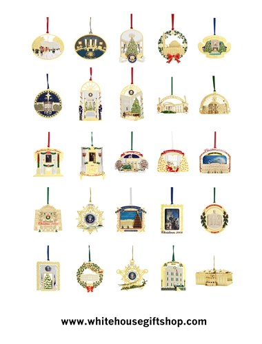 1991 2013 White House Gift Shop Ornament Collection 24