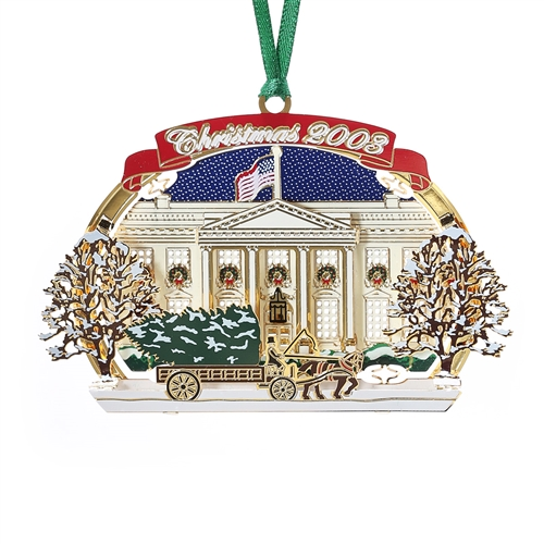 White House Christmas Ornament.2003 White House Holidays Ornament National Christmas Tree