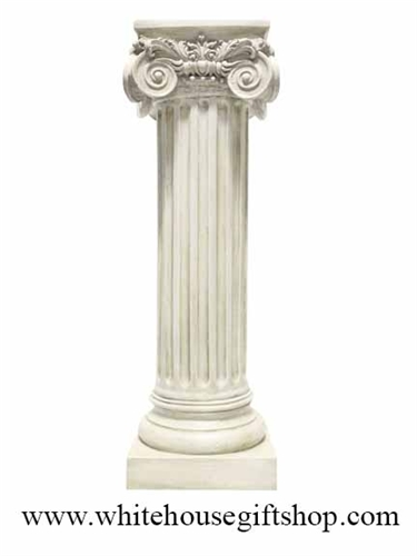 Statue Greek Ionic Column Marble Patina 36 Quot Classic