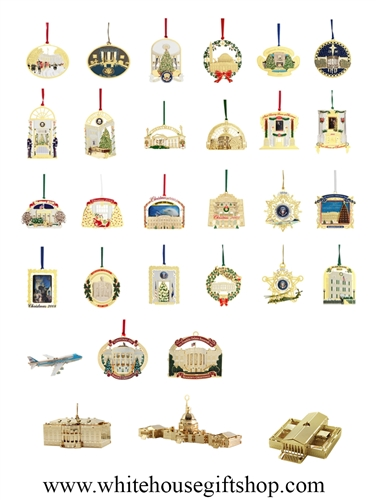 The White House Ornaments Collection 41 Commemoratives