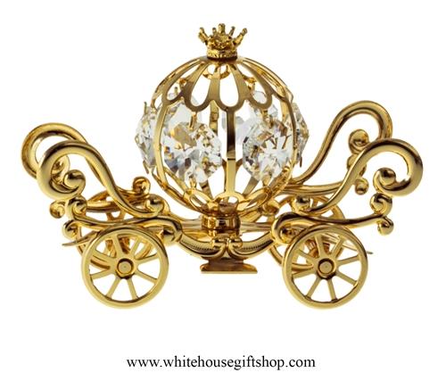 Cinderella Table Top Gold Mini Pumpkin Coach Carriage