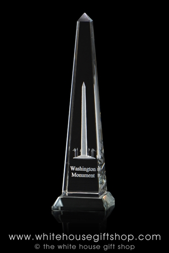 Washington Monument Optical Glass Display And Paperweight