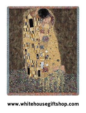 Gustav Klimt The Kiss Tapestry Blanket Throw Sale
