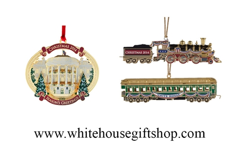 The White House Ornaments In One Set 2014 White House